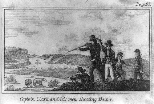 Captain-Clark-and-his-men-shooting-Bears