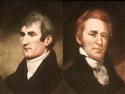 Meriwether Lewis and William Clark. Source: Wikimedia Commons.