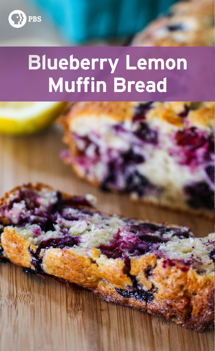 This Blueberry Lemon Muffin Bread is a sweet breakfast bread that tastes just like a giant blueberry muffin.