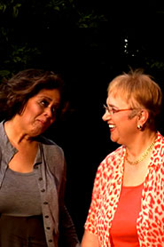 Anna Deveare Smith and Lidia Bastianich
