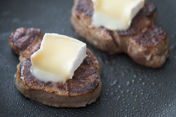 Steak with Brie and Mushrooms