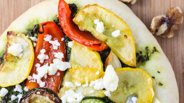 Roasted Veggie Flatbread Recipe | Fresh Tastes Blog | PBS Food