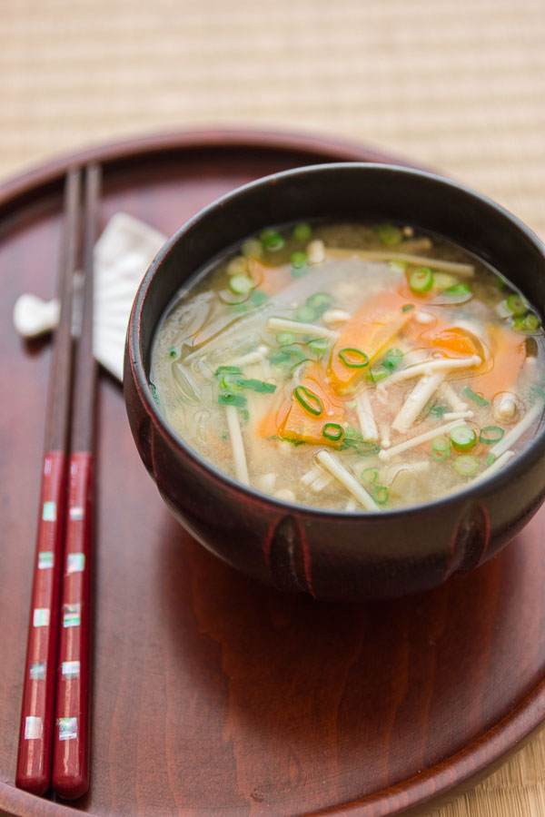 Miso soup is traditionally served as a breakfast food in Japan ...