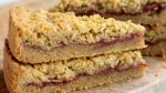 Rhubarb Cardamom Shortbread Bars recipe