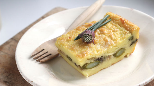 Semolina Gnocchi Stuffed with Asparagus