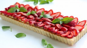 Strawberry Basil Tart recipe