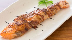 Bacon Wrapped Salmon