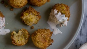 Charred Sweet Corn Fritters recipe