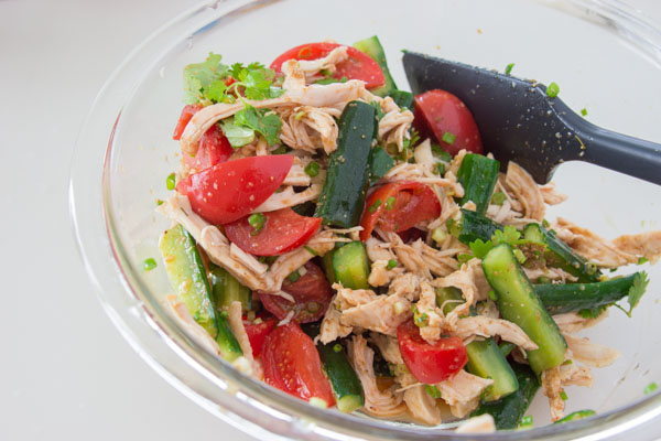 Fill Up with Shredded Chicken and Sesame Salad