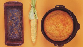 Dutch Oven Green Chili Corn Bread