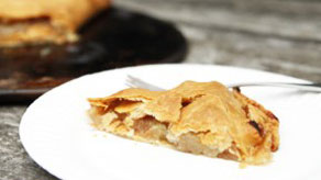 Easy flat apple pie