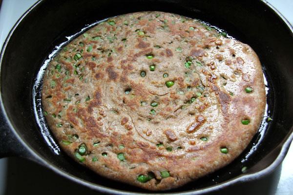 Garlic Scape Pancakes