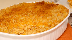 Baked four cheese macaroni