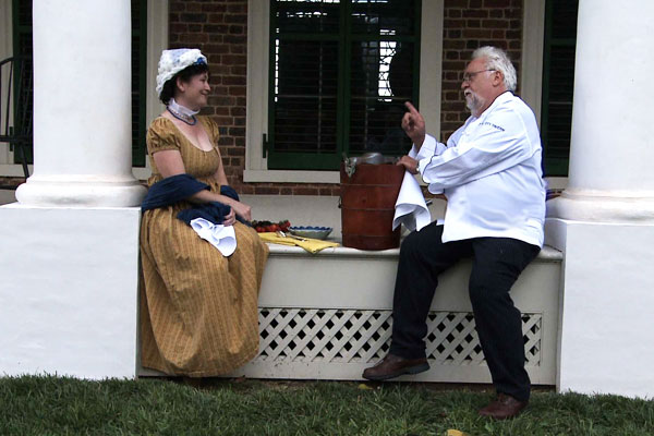 Dolley Madison and Chef Staib