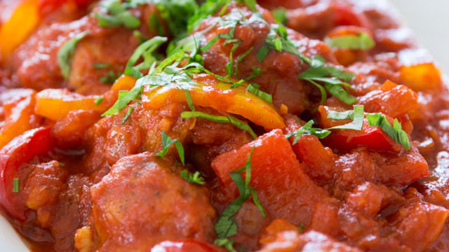 Brighten Up Dinner with This Chicken Pepper Stew