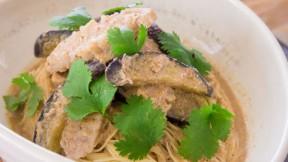 Pork Eggplant Cappellini