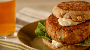 Veggie Burger with Tahini Mayonnaise