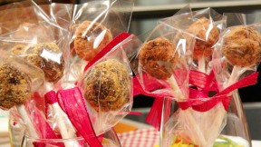 Chocolate Date-Nut Lollipops