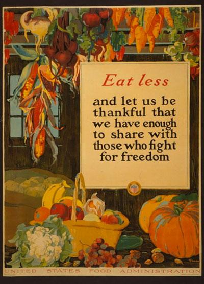 Eat Less Sign