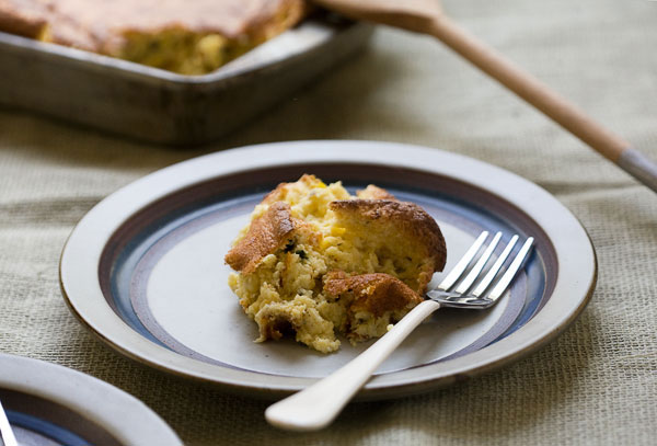 Pasilla Chile and Cheddar Spoonbread | Fresh Tastes Blog | PBS Food