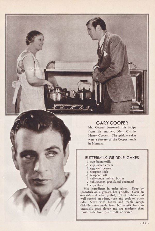 Gary Cooper's Buttermilk Griddle Cake Recipe