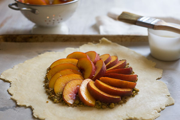 Peach and Pistacho Galette recipe