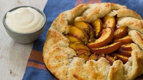 Peach and Pistachio Galette recipe