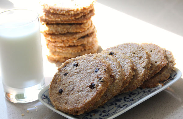 Enjoy Rye Blueberry Cookies for a Treat