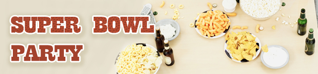 Super Bowl Recipes: Snacks and Party Food custom banner