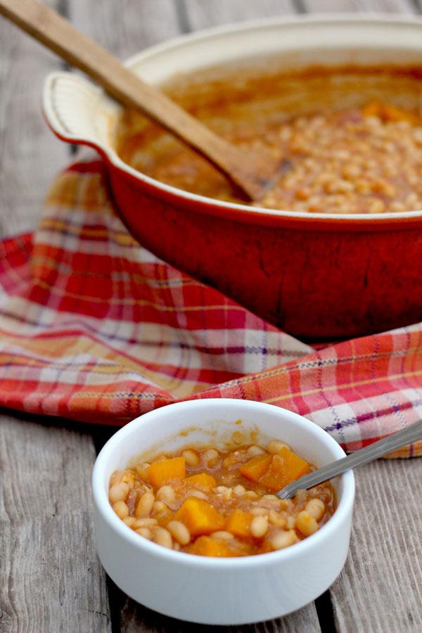 Pumpkin Apple Baked Beans recipe