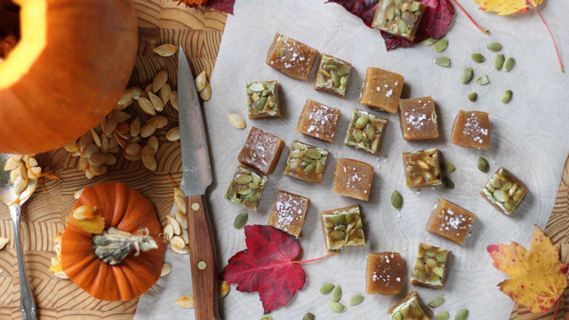 Salted Pumpkin Caramels Recipe   Dessert Recipes   PBS Food