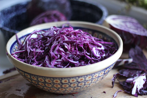 Slice Up Red Cabbage for a Slaw Side Dish