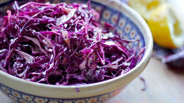 Zesty Red Cabbage Slaw recipe