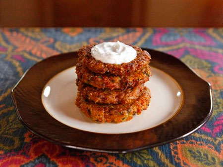 Curry Vegetable Latkes recipe