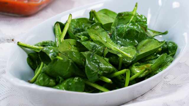 Quick Baby Spinach Salad Recipe Pbs Food