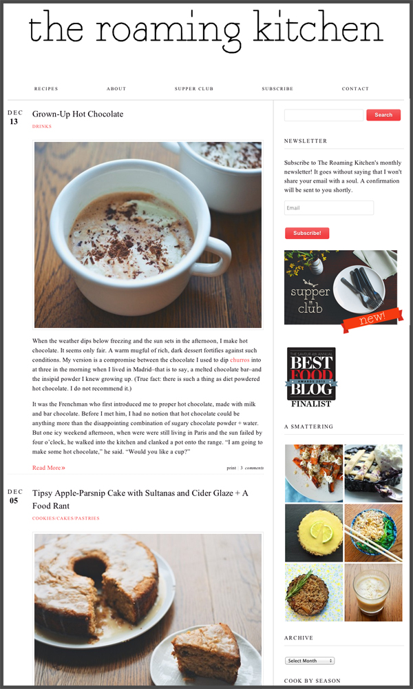 10 best food blogs of 2013 pbs food the roaming kitchen forumfinder Image collections