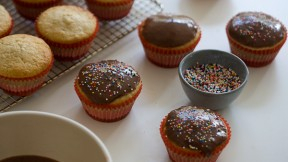 Chocolate Glazed Doughnut Muffins