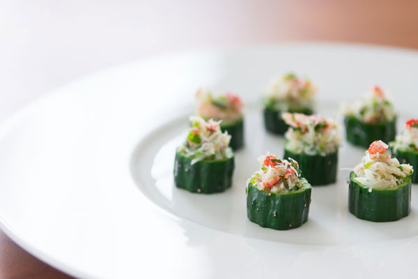 Crab in Cucumber Cups recipe