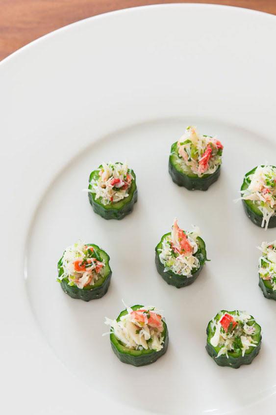Crab in Cucumber Cups recipe