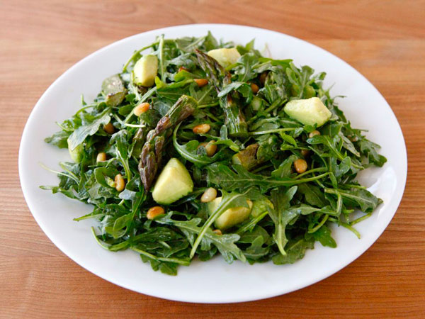Asparagus, Avocado, and Arugula Salad recipe