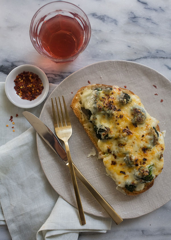 Broccoli and Cheese Tartine recipe