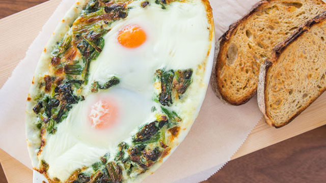 ... sunny eggs mustard creamed chard creamed spinach creamed spinach