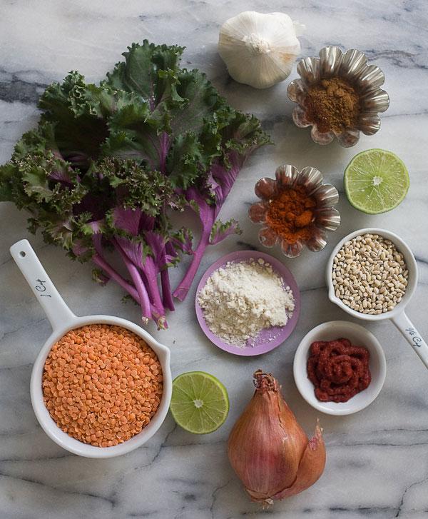 Kale, Barley, and Lentil Soup recipe