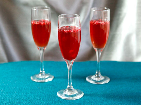 Pomegranate Champagne Cocktail recipe