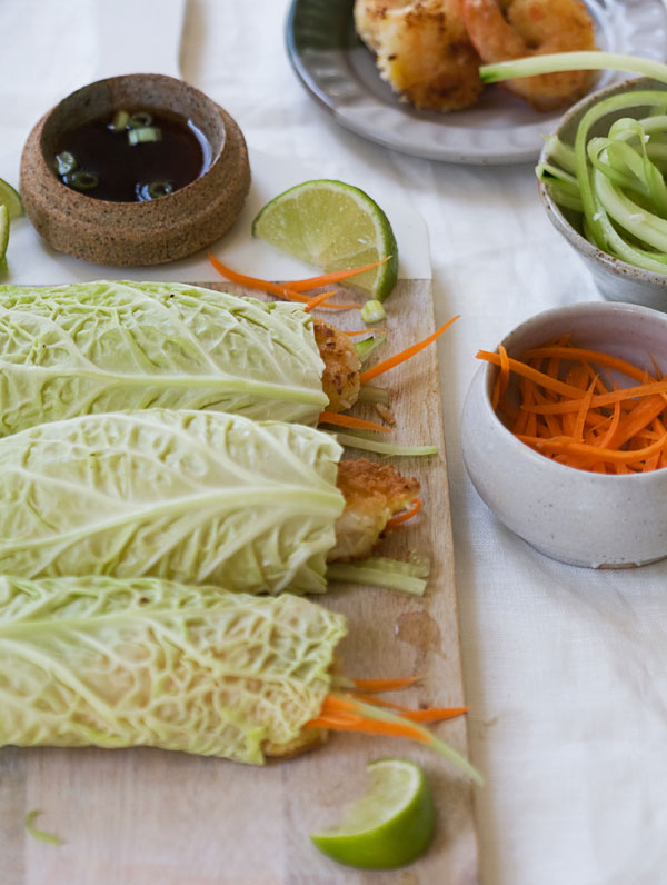 Cabbage Coconut Shrimp Rolls recipe