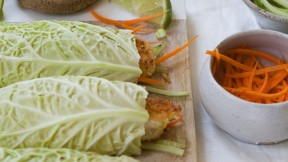 Cabbage Coconut Shrimp Roll recipe
