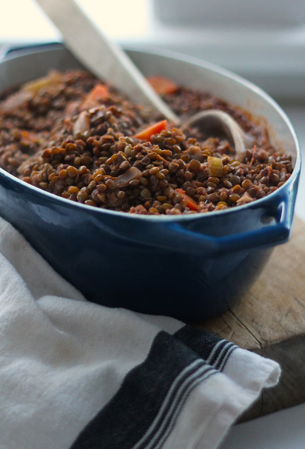 Lentils Stewed in Tomatoes and Red Wine | Kitchen ...