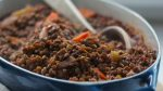 Lentils Stewed in Tomatoes and Red Wine recipe