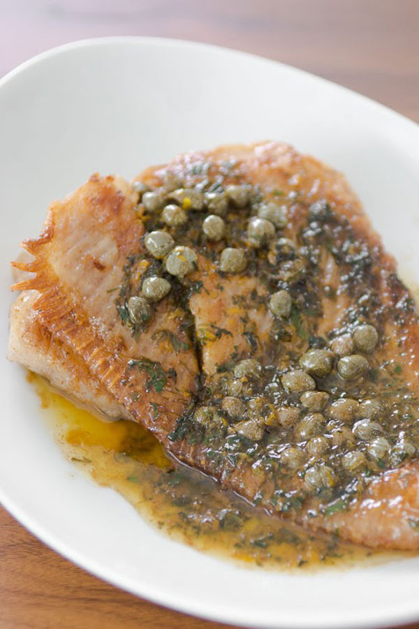 Skate with Browned Butter recipe