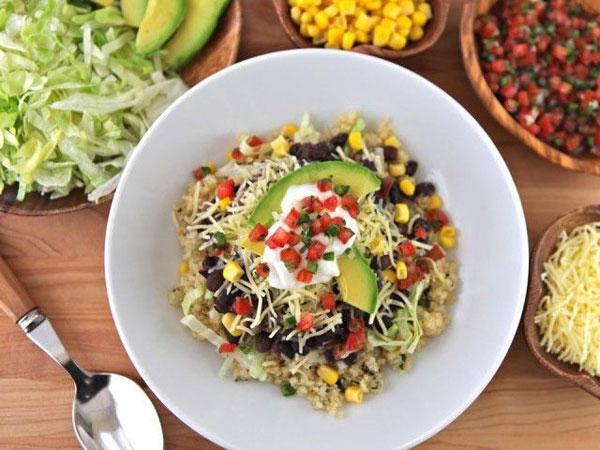 Make Quinoa Black Bean Burrito Bowl for Cinco de Mayo to celebrate Mexican heritage and pride.